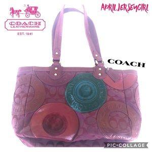 Coach • F15486 • fusia/burgundy satchel